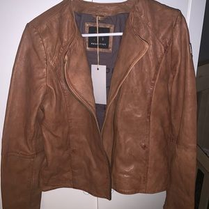 NEW WOMENS ASHRO BUBBLE GUM PINK EVETTE FAUX LEATHER JACKET SIZE SMALL